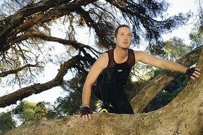 Gareth Titterington prepares for his marathon of obstacles. Picture: Martin Kennealey www.communitypix.com.au d402555
