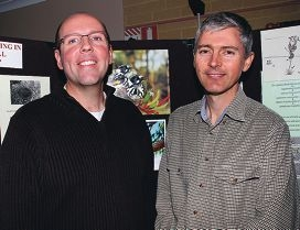 Rob Davis (ECU) and David Wake (Quinns Rocks Environmental Group). Pictures: Robin Kornet d402519