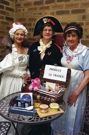 From Left: Mary Woods, Shirley Golding, Noelle Edgecombe at Joondalup and Districts Country Women's Association's French Day