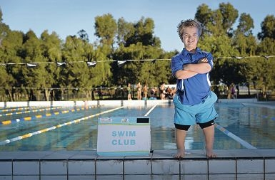 Sam Kimberley (15) of Port Kennedy at the pool. Picture: Elle Borgward d402999