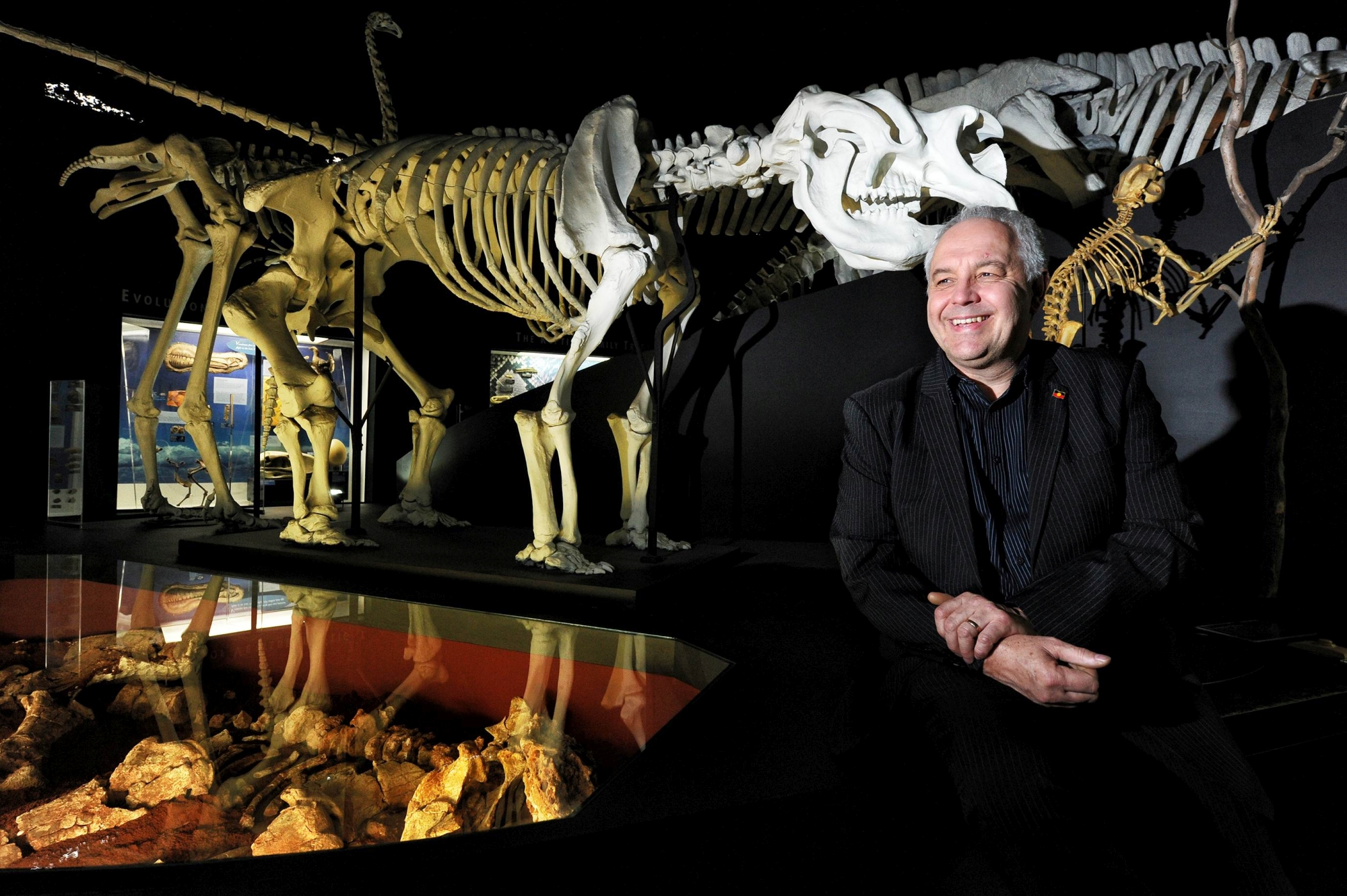 Western Australian Museum chief executive officer Alec Coles in the dinosaur sector.Picture: Marcus Whisson d402866