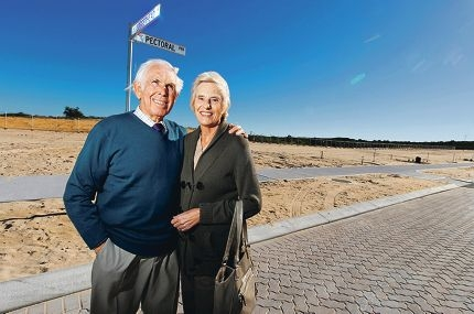 Peter and Margaret Richardson bought at Alkimos Beach to be near the ocean in their retirement years. Picture: Tony McDonough