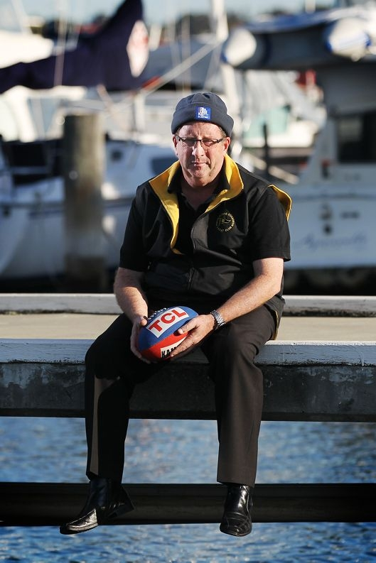 New Perth Flying Squadron Yacht Club general manager Gerry O'Dea took part in the Vinnies CEO Sleepout recently. Picture: Andrew Ritchie www.communitypix.com.au d403076