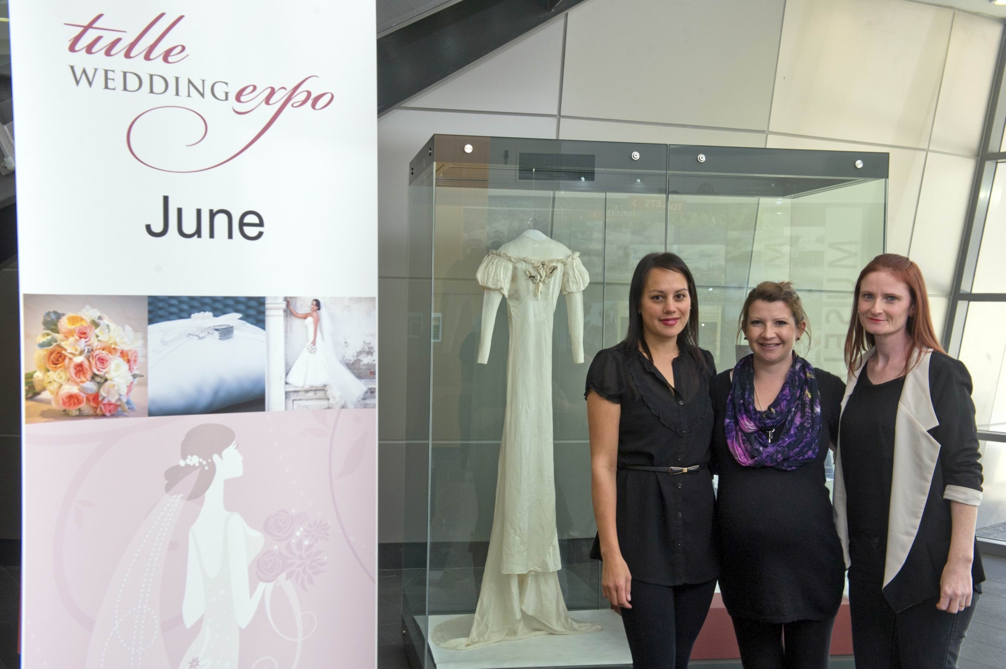 From Left: Sharee Feist, Sophie Cordeiro, Gillian Dawson are organising the Tulle Wedding Expo