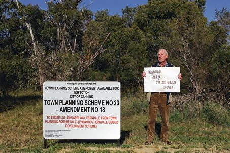 Ferndale resident David Bindley is concerned that new residents will call for the removal of local bushland. Picture: Martin Kennealey www.communitypix.com.au d403290