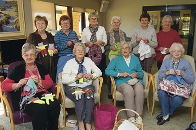 Kingsway Court Retirement Village Knitting Group make gifts for many different charities.