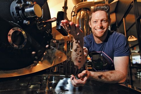 Stephen Kenyon in the roasting room at Typika. Pictures: Andrew Ritchie www.communitypix.com.au d403142