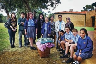 The students learned so much about refugees and their life before coming to Australia. Picture: David Baylis www.communitypix.com.au d403163