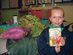 Student tells of giant radish