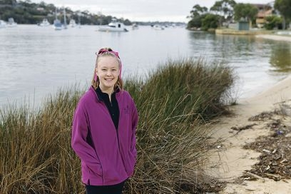 Britani Haddon (13) of Bicton is excited about the tour. Picture: Martin Kennealey