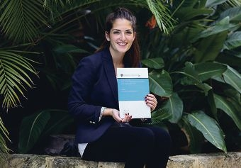 Hong Kong bound: Leora Friedland hopes to make a positive contribution and impact in the area of finance and economics in Australia after she graduates.