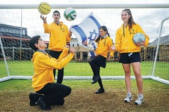Zac Rosenberg (16), Gregg Osrin (16), Danelle Terry (16) and Gina Steinberg (14) are heading to Israel to compete in the Maccabiah Games. Picture: Marcus Whisson d403303