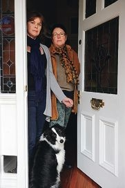 Kylie Bryant with her dog Lucy and Maylands MLA Lisa Baker.Picture: Marcus Whisson d404438