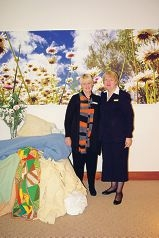 Anglicare representative Jillian Fraser and Oakwood Funerals Rockingham location manager Jackie Thompson.
