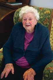 Placid and gentle: Madge Prior celebrated her 100th birthday on Monday. Picture: Emma Reeves d403560
