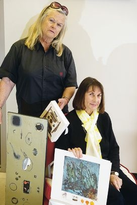 Jane Graham and Marilyn Hamilton with some of their work.d403604