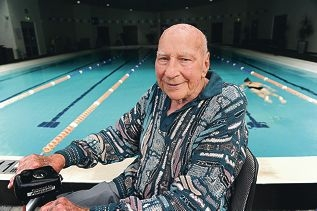 Balcatta resident Ralph Stone is the oldest member of Lords Recreation Centre. Picture: Marcus Whisson www.communitypix.com.au d403654