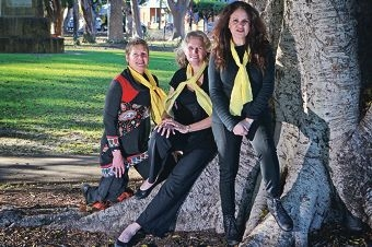 Madjitil Moorna members Tracy Sandercock, Jo Randell and Della Rae Morrison. Picture: Bruce Hunt www.communitypix.com.au d403834