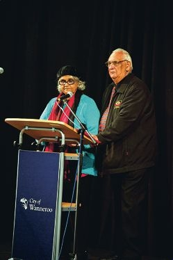 Welcome to Country by Doolann Leisha and Walter Eatts at City of Wanneroo Naidoc celebrations