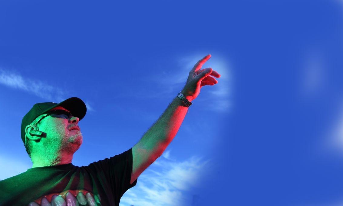 UFO spotter NIcholas D'Arcy-Walker. Picture: Bruce Hunt d399962