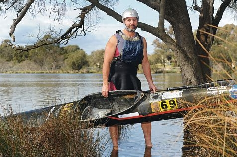 Champion Avon Descent competitor Darryl Long. Picture: Marcus Whisson www.communitypix.com.au d404318