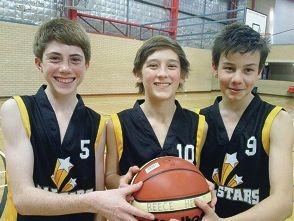 Basketballers in Beijing: Reece Hewitt, Jordan Rigden and Beau Tuccio.