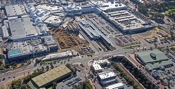 A photo of the Lakeside Joondalup Shopping City site taken in May.