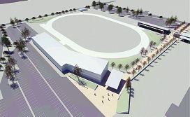 An artist's impression of the new greyhound facilities.