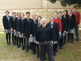 Prendiville Catholic College teacher Paddy Devlin and his young 'army'.