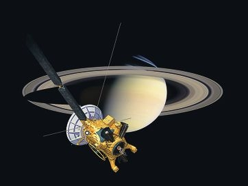 Saturn and the Cassini spacecraft. Picture: NASA