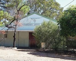 The Mahogany Creek hall.