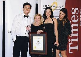 Jan Jones, second from left, with her Sparkle Dental colleagues Alex Devellerez, Shereem Lim and Erika Blenkinsop.