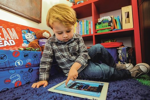 Two-year-old Dylan Wilkins is a child of the high-speed digital age. Picture: Jon Hewson www.communitypix.com.au d403348