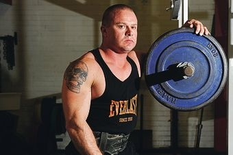Powerlifter James McNaught has broken the open world record for his weight division at a competition in Melbourne. Picture: Marcus Whisson www.communitypix.com.au d401851