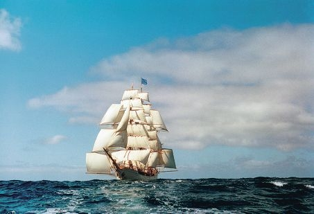 The Dutch bark Europa under full sail. Picture: Bratt Yates Bolle Wangen