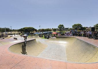 Mirror Park skate park has proved extremely popular with families and young people.