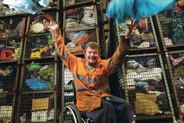 Adrian Fleay, of East Cannington, celebrates record sales. Picture: Marcelo Palacios d402004