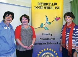 Jan Duffy with Red Cross scientist Gail Lazzaro and Anne Nedkoff.