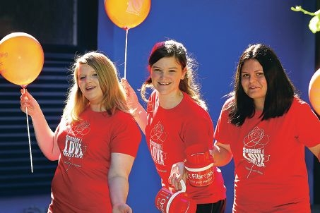 Southern River College students Briony Downes, Halei Greaves and Amy Rickard.