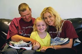 David and Zillah Fortune with Jesse (7) who has diabetes.