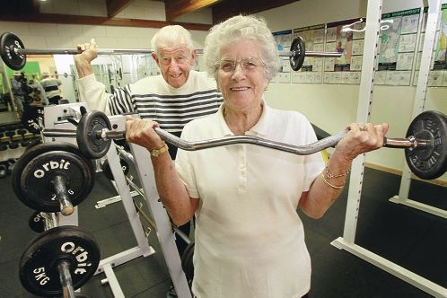 Norma and Maxwell Walsh at Gym Tonic. Picture: Bruce Hunt d400921