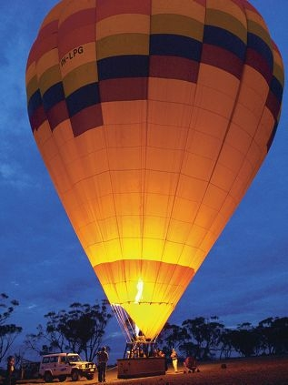 A hot air balloon in the Avon Valley.