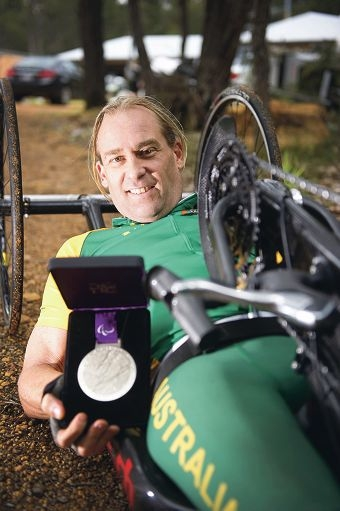 Nigel Barley with his London Olympics silver medal. Picture: Emma Reeves d388174