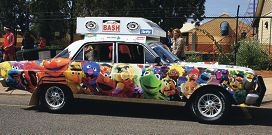 Umistakeable: A Variety WA Bash car decked out with The Muppets