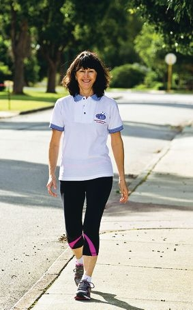 Bev Bertocchi is walking to raise money to find a cure for Mesothelioma.