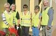 Volunteers Kaye Scott, Janny Harris, Dot Durkin, Jan Conolly and Ian Crombie.