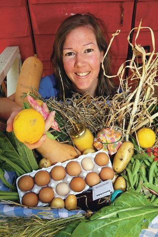 Liz Fox with some of her produce she hopes to share. Picture: Bruce Hunt www.communitypix.com.au d411708
