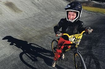 BMX rider Angus Richards always competes in the right spirit.