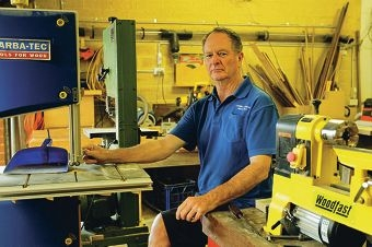 David Turbett began volunteering with the Canning Men's Shed after retirement. Picture: Martin Kennealey www.communitypix.com.au d411491