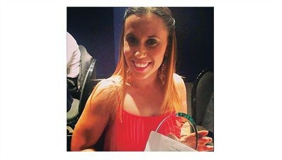 Belinda Cipriano was delighted to receive her award for articles such as those seen alongside.